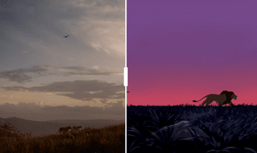 Side By Side Comparison Between The Old And New Lion King