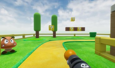Take A Look At The Iconic Level 1-1 Of Super Mario Bros - As An FPS Game