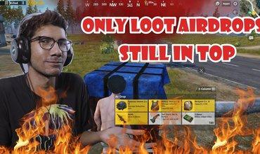 [HINDI] PUBG MOBILE Challenge | Air Drop Only with Ashish | Heal aur Guns ke bina top 3 tak pohche!