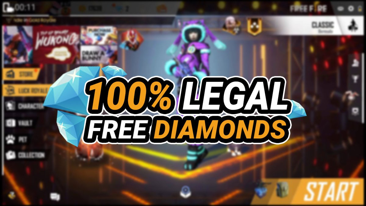 Here Are 4 Legal Answers To How To Get 100 Diamonds In Free Fire 2020