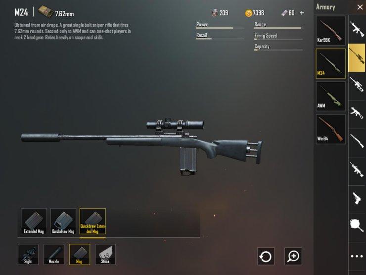 Tips Menggunakan M24 PUBGM