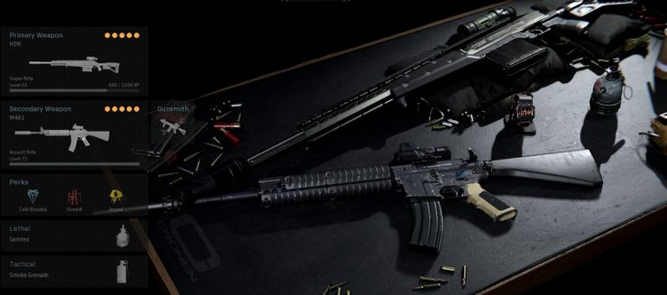 warzone duty call loadout loadouts presets m4 guns put too combinations perks