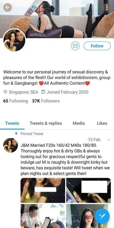 exhibitionist couple singapore twitter