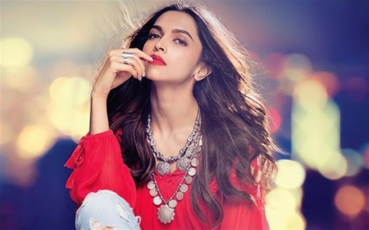 Deepika Padukone Red Lips