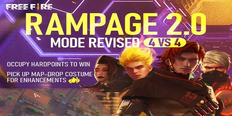 Free Fire Rampage 2.0 Mode - free fire rampage event factions, points, tokens, rewards, prizes