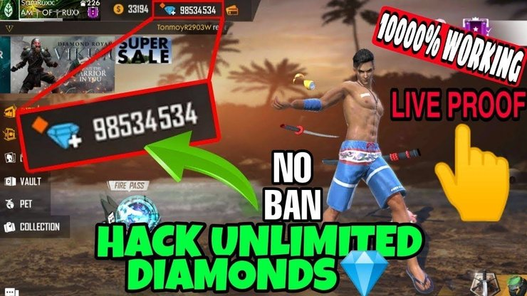 Get Unlimited Free Diamonds With Free Fire Diamond Top Up Hack 2020