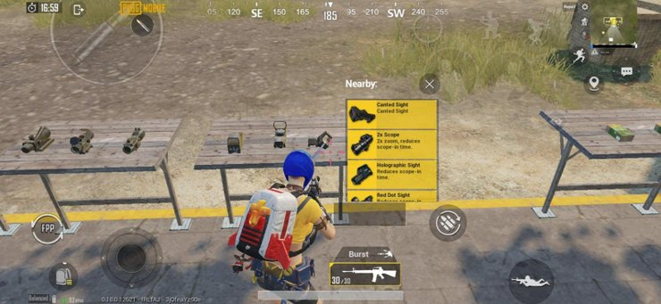 Pubg Mobile Canted Sight Location