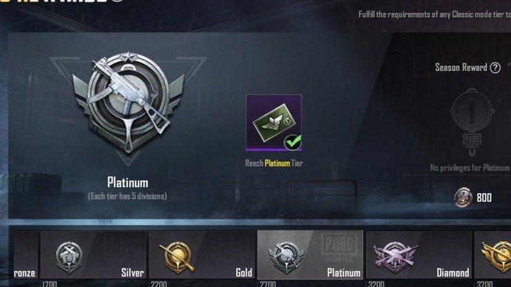Pubg Mobile Platinum Tier 49cf