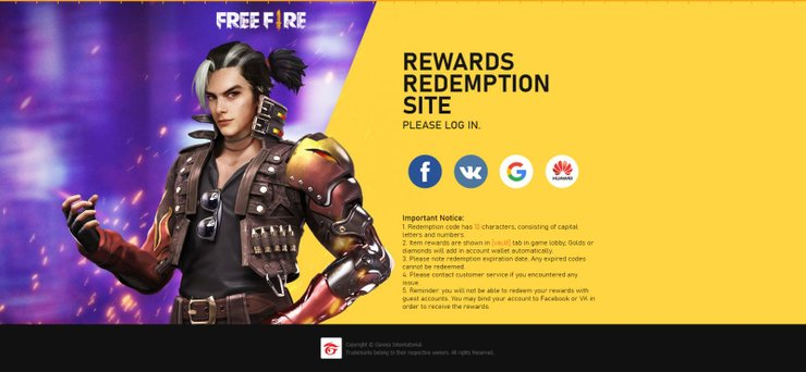 List Of Working Free Fire Redeem Code Today, September 2020