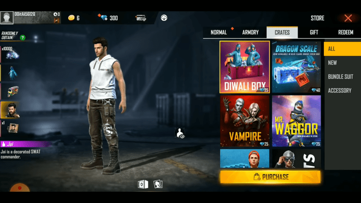 Free Fire Diwali Loot Crate Review Can I Win The Dino Bundle And 10 000 Diamonds With Just 25 Diamonds