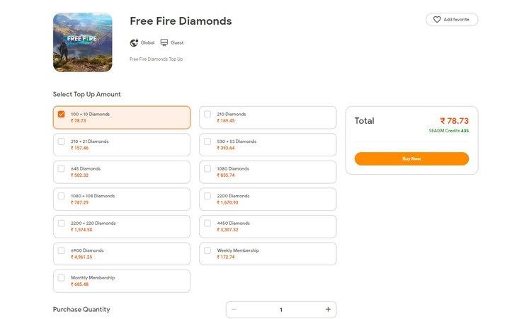 Top Up Diamonds in SEAGM
