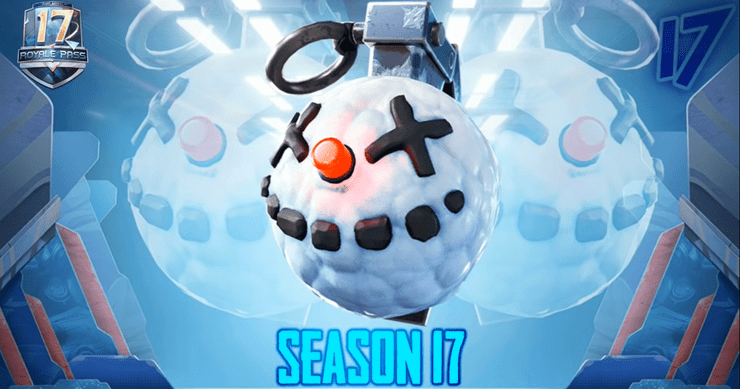 PUBG Mobile Season 17 Royale Pass Rewards- Explosive Snowball  Image credit ShooterYT